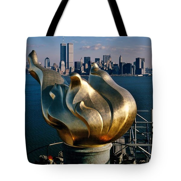 Liberty's Flame Tote Bag by Benjamin Yeager