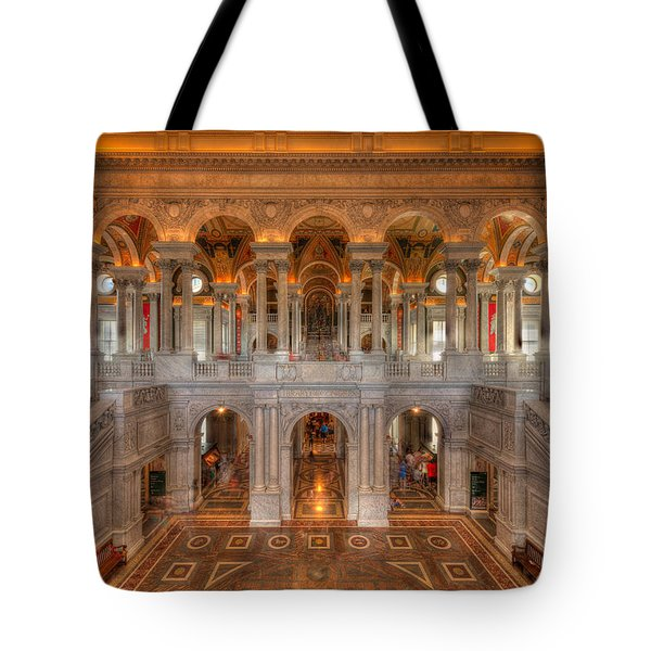 Library Of Congress Tote Bag by Steve Gadomski