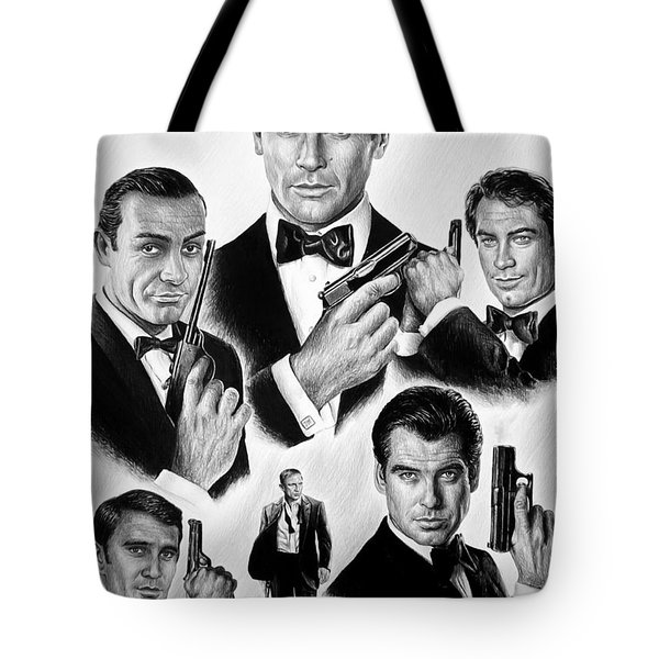 Licence To Kill  Bw Tote Bag by Andrew Read