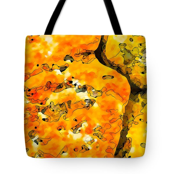 Lichen Abstract 2 Tote Bag by Bill Caldwell -        ABeautifulSky Photography