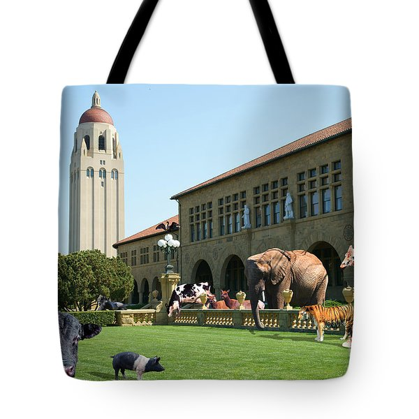 Life Down On The Farm Stanford University California Dsc685 Tote Bag by Wingsdomain Art and Photography