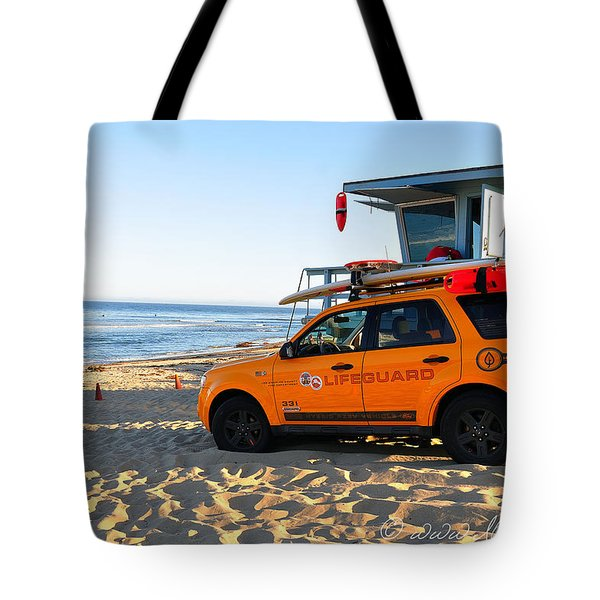 Life Guard  Tote Bag by Gandz Photography