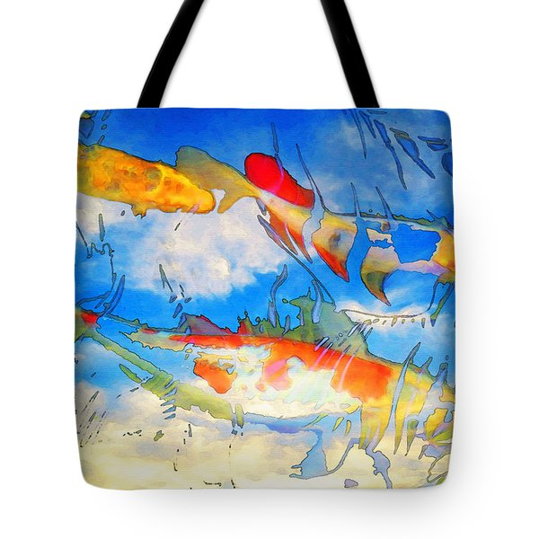 Life Is But A Dream - Koi Fish Art Tote Bag by Sharon Cummings