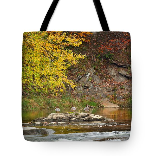 Life On The River Square Tote Bag by Bill Wakeley
