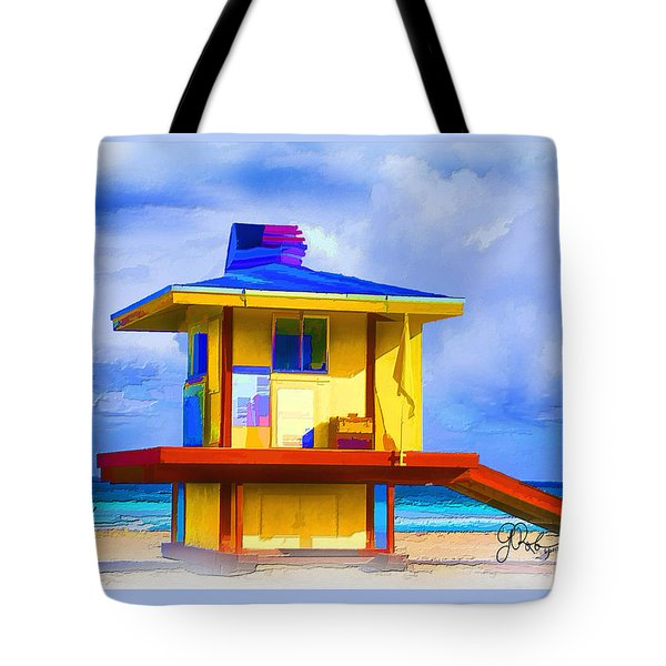 Lifeguard Station Tote Bag by Gerry Robins