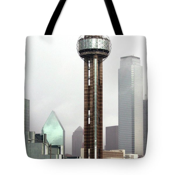 Lifting Fog On Dallas Texas Tote Bag by Robert Frederick