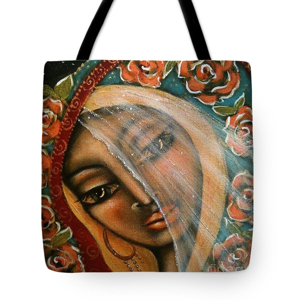 Lifting The Veil Tote Bag by Maya Telford