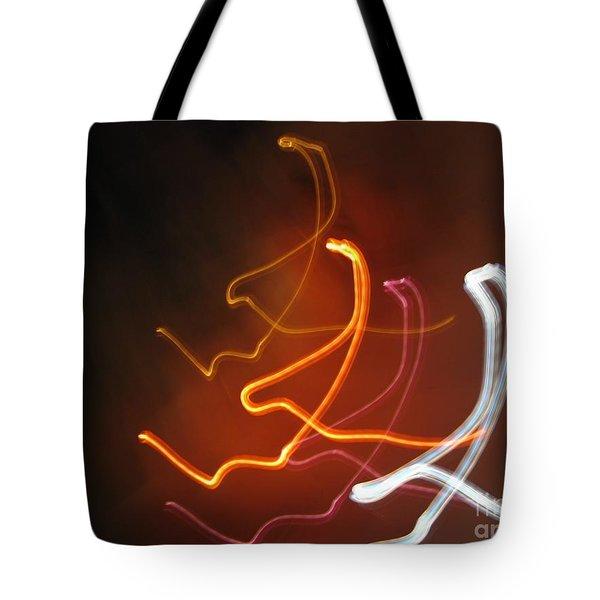 Light Drawing. I..i..i... Tote Bag by Ausra Paulauskaite