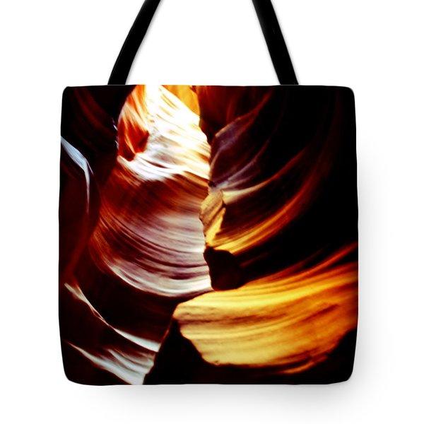 Light From Above - Canyon Abstract Tote Bag by Aidan Moran