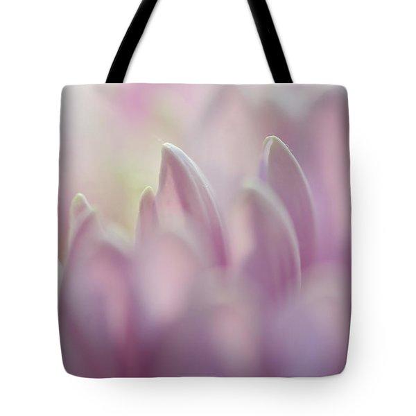 Light Impression 1. Pink Chrysanthemum Tote Bag by Jenny Rainbow