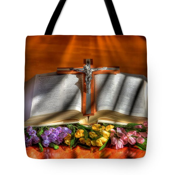 Light Of The World Tote Bag by Donna Kennedy