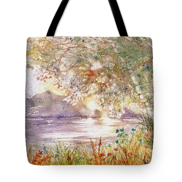 Light Through The Pass Tote Bag by Marilyn Smith