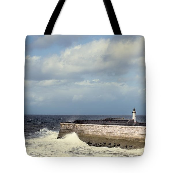 Lighthouse At Whitehaven Tote Bag by Amanda And Christopher Elwell