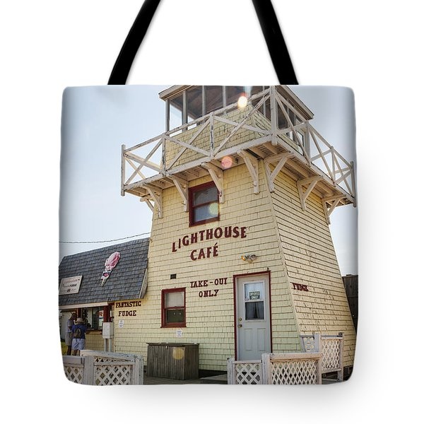 Lighthouse Cafe In North Rustico Tote Bag by Elena Elisseeva