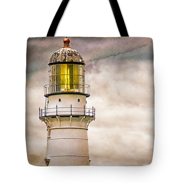 Lighthouse Cape Elizabeth Maine Tote Bag by Bob Orsillo