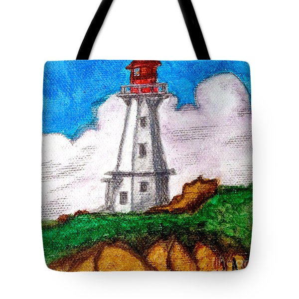 Lighthouse Nova Scotia Tote Bag by Anita Lewis