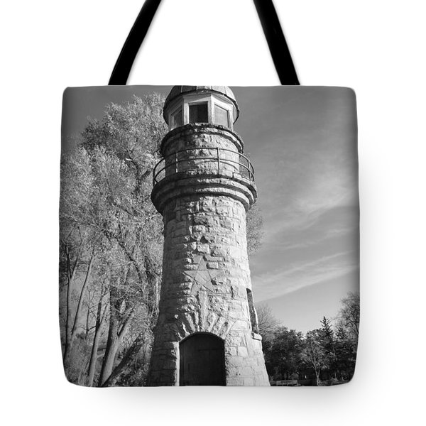 Lighthouse Of Stone Tote Bag by Kathleen Struckle
