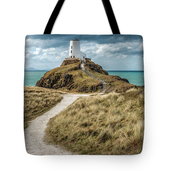 Lighthouse Path Tote Bag by Adrian Evans