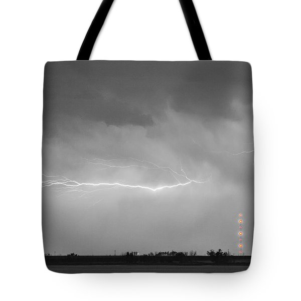 Lightning Bolting Across the Sky BWSC Tote Bag by James BO  Insogna