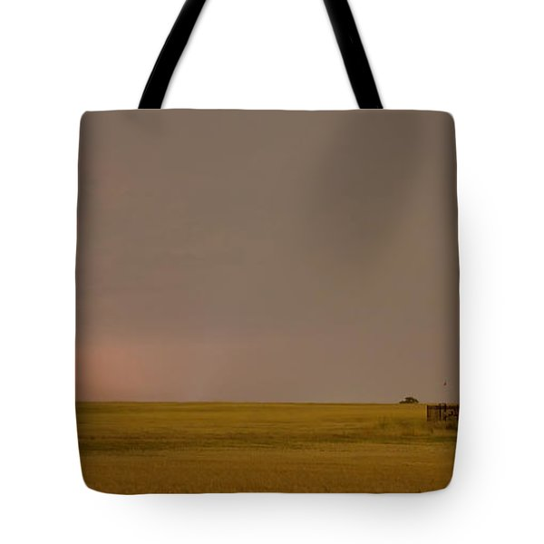 Lightning On the Horizon of Oil Fields  Tote Bag by James BO  Insogna