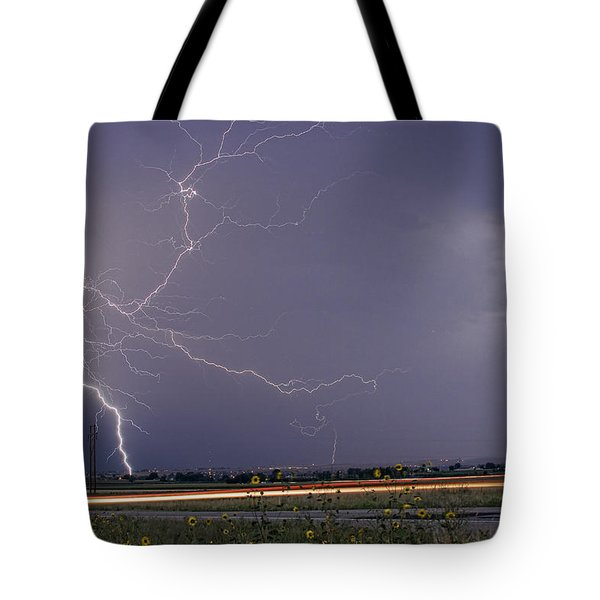 Lightning Thunderstorm Dragon Tote Bag by James BO  Insogna