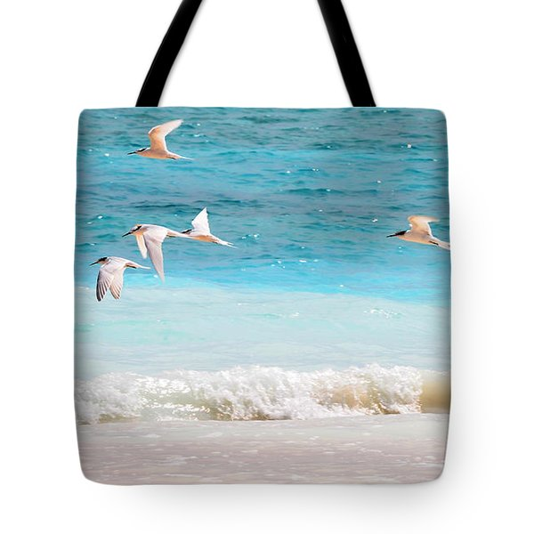Like Birds In The Air Tote Bag by Jenny Rainbow