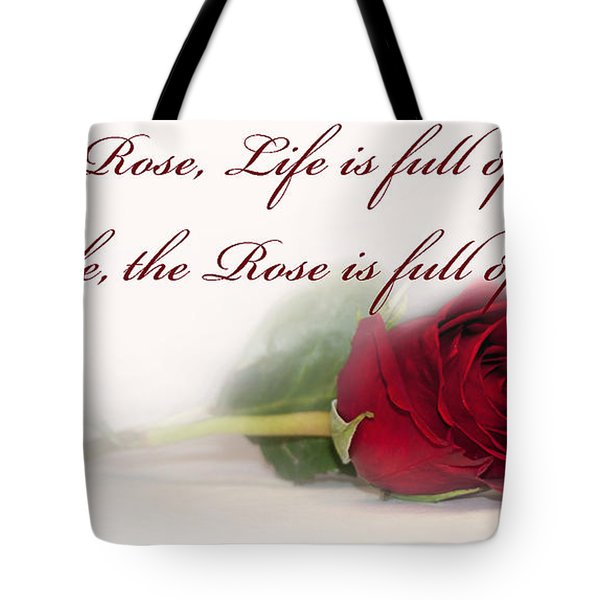 Like the Rose Tote Bag by Mechala  Matthews