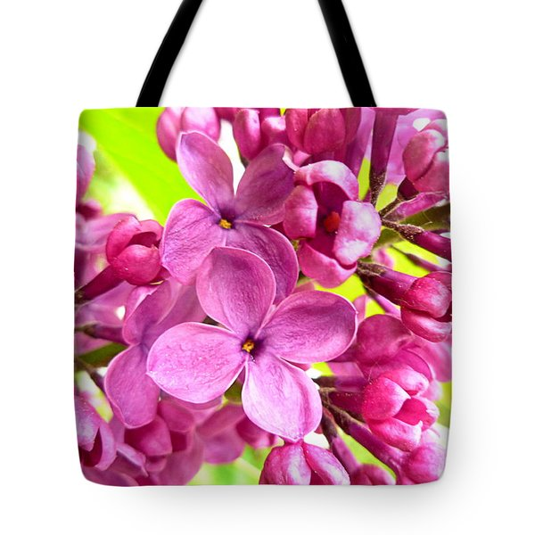 Lilac Closeup Tote Bag by The Creative Minds Art and Photography