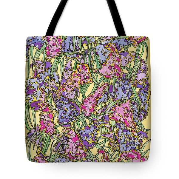 Lilacs Electric Tote Bag by Mag Pringle Gire