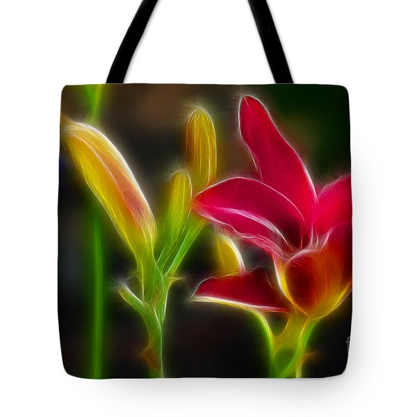 Lilies-6340-fractal Tote Bag by Gary Gingrich Galleries