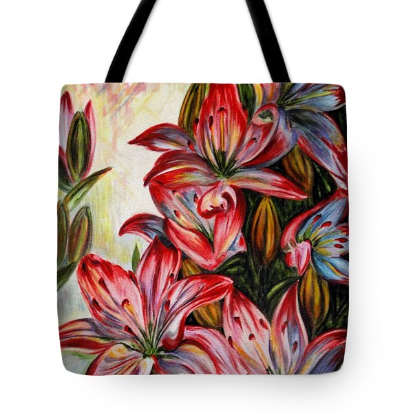 Lilies Tote Bag by Harsh Malik