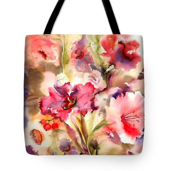Lilies Tote Bag by Neela Pushparaj