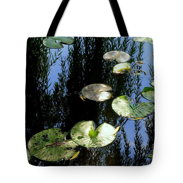 Lilly Pad Reflection Tote Bag by Frozen in Time Fine Art Photography