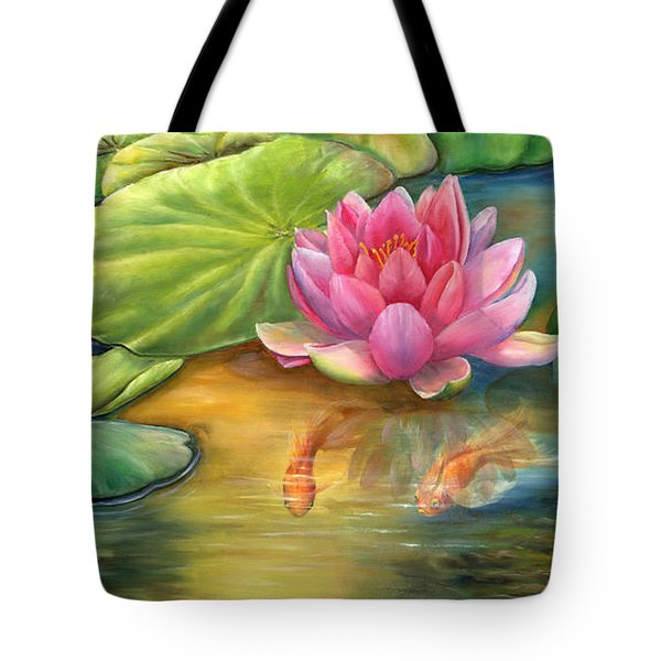 Lilly Pond Tote Bag by Kathy Brecheisen