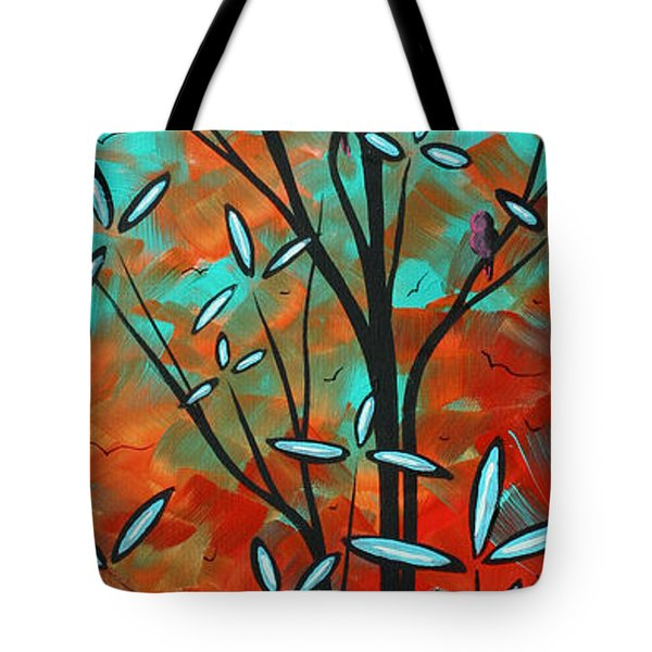 Lilly Pulitzer Inspired Abstract Art Colorful Original Painting Spring Blossoms By Madart Tote Bag by Megan Duncanson