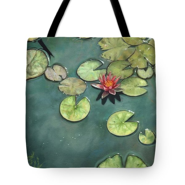 Lily Pond Tote Bag by David Stribbling