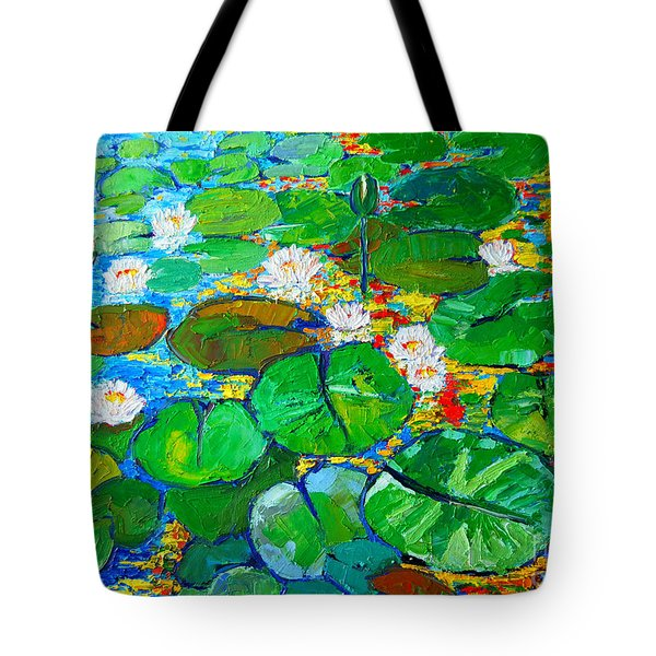 Lily Pond Reflections Tote Bag by Ana Maria Edulescu