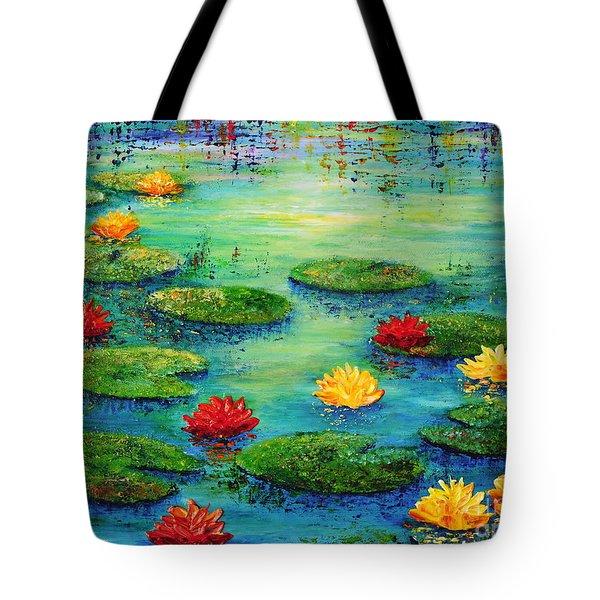 Lily Pond Tote Bag by Teresa Wegrzyn