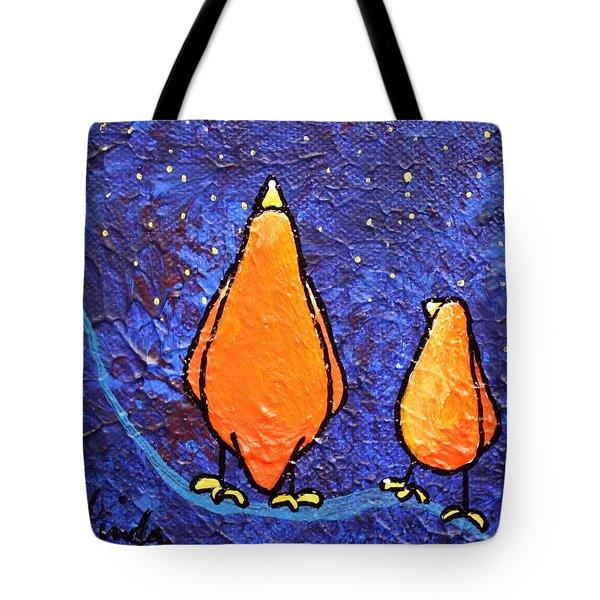 Limb Birds - Star Gazing Tote Bag by Linda Eversole