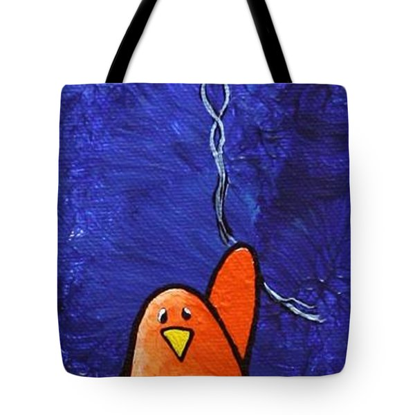 Limbbirds - Up Tote Bag by Linda Eversole