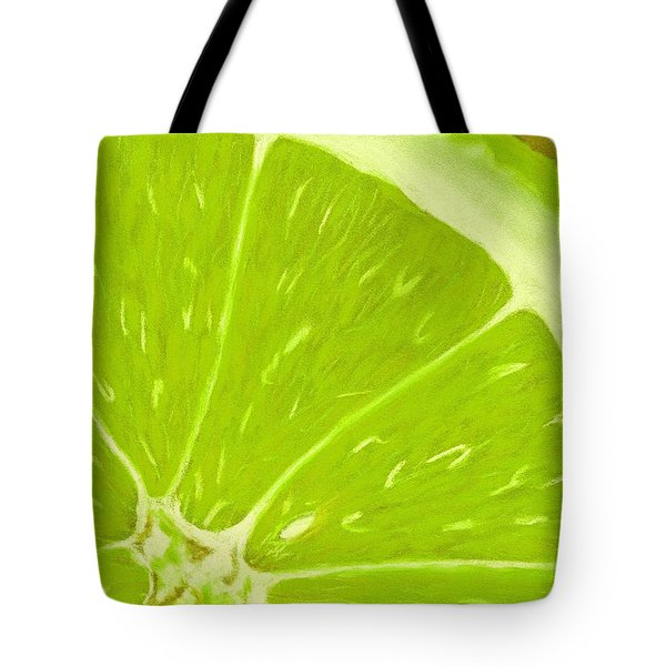 Lime Tote Bag by Anastasiya Malakhova