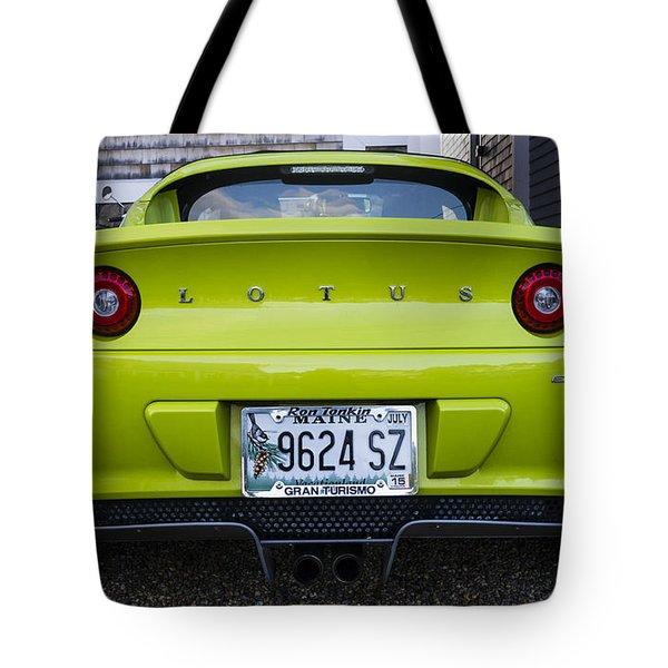 Lime Green Lotus Tote Bag by Steven Ralser
