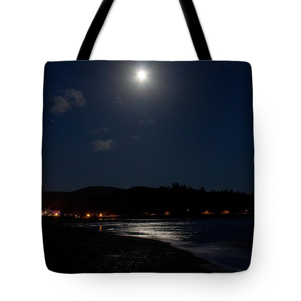 Lincoln City Moonlight Tote Bag by John Daly