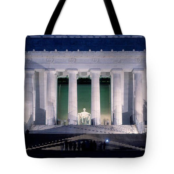 Lincoln Memorial At Dusk, Washington Tote Bag by Panoramic Images