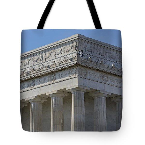 Lincoln Memorial Columns  Tote Bag by Susan Candelario
