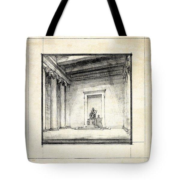 Lincoln Memorial Sketch IIi Tote Bag by Gary Bodnar