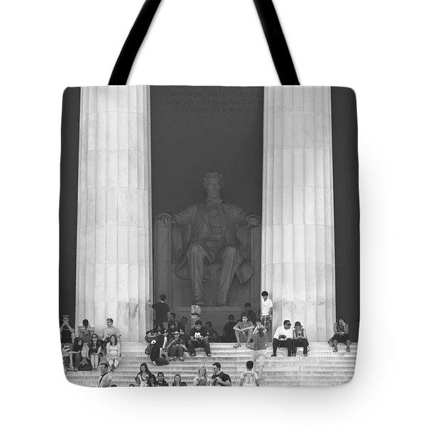 Lincoln Memorial - Washington Dc Tote Bag by Mike McGlothlen