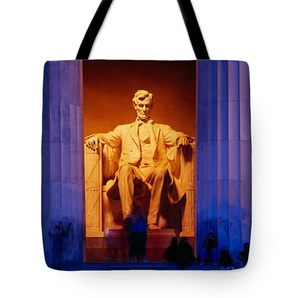 Lincoln Memorial, Washington Dc Tote Bag by Panoramic Images