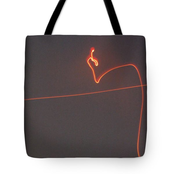 Linear Abstract Fireworks  Tote Bag by Jani Freimann