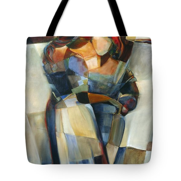 Lines Crossed Tote Bag by Jen Norton